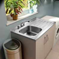 SupaPlumb 2 Tap Sit on Sink - Left Hand Drainer
